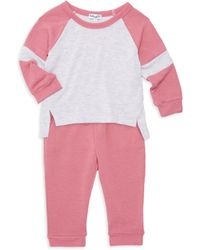 Splendid - Baby Girl's 2-piece Raglan Tee & Sweatpants Set - Lyst