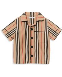 Burberry - Little Boy's & Boy's Andres Icon Stripe Pajama Shirt - Lyst