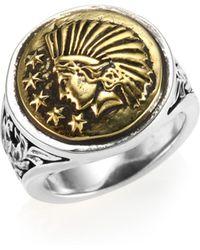 King Baby Studio - Liberty Headdress Signet Silver Ring - Lyst