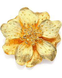 Kenneth Jay Lane - Women's Metallic Anemone Flower Pin - Gold - Lyst