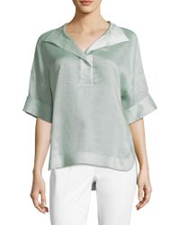 Lafayette 148 New York - Classic Elbow-length Sleeve Top - Lyst