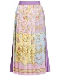 Versace Jeans Couture Confetti Pleated Skirt - Multicolor