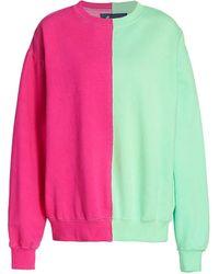 LA DETRESSE Half Half Sweatshirt - Pink