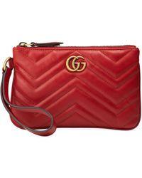 Gucci - GG Marmont Wrist Wallet - Lyst