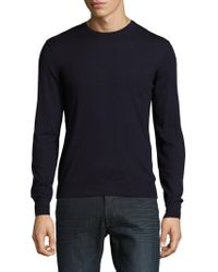 Ralph Lauren Purple Label - Solid Crewneck Sweater - Lyst