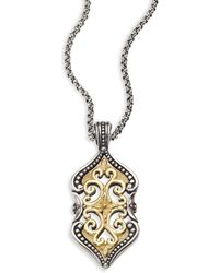 Konstantino - Hebe 18k Yellow Gold & Sterling Silver Pendant - Lyst
