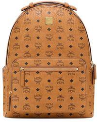 MCM Stark Visetos Backpack - Brown
