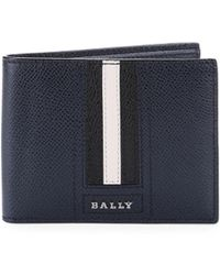 Bally - Teuve Grain Leather Billfold Wallet - Lyst