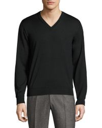 Brioni - Pullover V-neck Sweater - Lyst