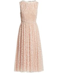Jason Wu Sleeveless Embroidered Tulle Cocktail Dress - Pink