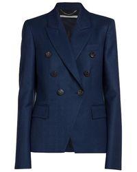 Stella McCartney Robin Double Breasted Wool Jacket - Blue