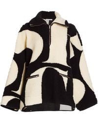 See By Chloé Multi Pullover Teddy Coat - Black