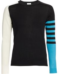 Akris Punto Colorblock Stripe Wool Knit Jumper - Black