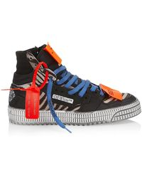 Off-White c/o Virgil Abloh Off Court 3.0 Mixed-media High-top Sneakers - Blue