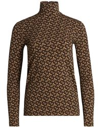 Burberry Trancura Monogram Turtleneck Top - Brown