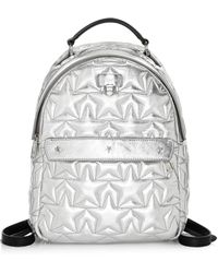 Furla - Women's Fortuna S Quilted Leather Backpack - Silver - Lyst