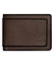 Shinola - Leather Bi-fold Wallet - Lyst