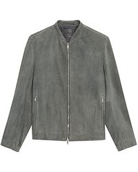 Theory Moore Suede Jacket - Gray