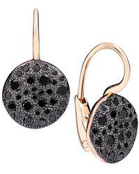 Pomellato - Sabbia Black Diamond & 18k Rose Gold Drop Earrings - Lyst