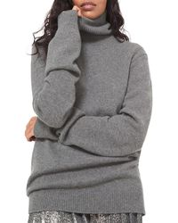 Michael Kors Cashmere Knit Turtleneck Sweater - Gray