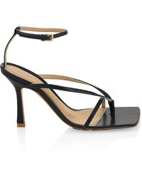 Bottega Veneta Stretch Leather Heeled Sandals - Black