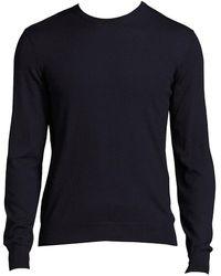 Ralph Lauren Purple Label Solid Crewneck Sweater - Blue