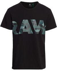 G-Star RAW Raw Camo Logo Tee - Black