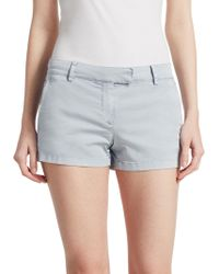 Theory - Bennie Cotton Shorts - Lyst