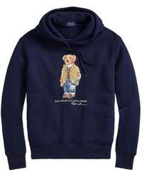 Polo Ralph Lauren Magic Fleece Bear Graphic Hoodie - Gray