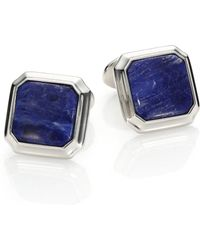 David Donahue - Sterling Silver & Sodalite Cuff Links - Lyst
