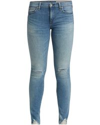 Rag & Bone Cate Mid-rise Ankle Skinny Jeans - Blue