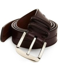 Shinola - Center-stitch Leather Belt - Lyst