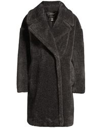 Donna Karan Faux Fur Teddy Coat - Gray