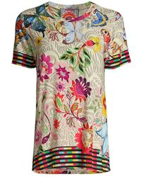 Johnny Was Mitchie Floral Swing T-shirt - Multicolor
