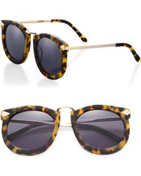 Karen Walker - Super Lunar 50mm Round Sunglasses - Lyst
