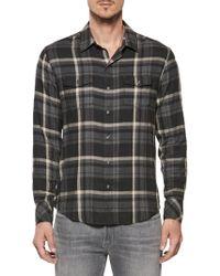 PAIGE - Plaid Button-down Shirt - Lyst