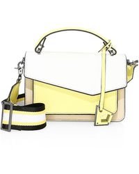 Botkier Cobble Hill Leather & Canvas Satchel - Yellow