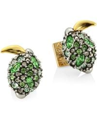 Alexis Bittar - Elements Crystal Lime Stud Earrings - Lyst