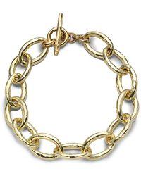 Ippolita 18k Gold Glamazon Mini Bastille Link Bracelet - Metallic