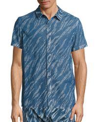 Les Benjamins - Dancers Of The Sand Muala Printed Cotton Shirt - Lyst