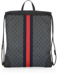 d9e56113cadc Lyst - Gucci Black Gg Nylon Shoe Case From Viaggio Collection in ...