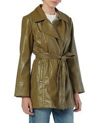 Joie Francine Tie Faux Leather Jacket - Green