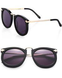 Karen Walker Super Lunar 53mm Cat's-eye Sunglasses - Black