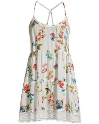 In Bloom Summerland Floral Tiered Chemise - White