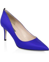 SJP by Sarah Jessica Parker - Fawn Satin Point Toe Pumps - Lyst
