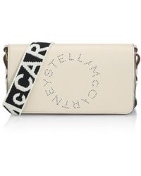 Stella McCartney Logo Strap Crossbody Wallet - White
