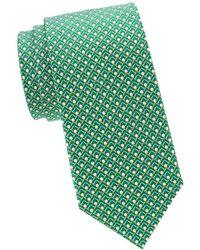 Ferragamo Men's Iago Golf Ball & Tees Silk Tie, Green