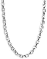 John Hardy Men's Classic Chain Link Sterling Silver Necklace - Metallic