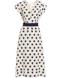 Stella McCartney Reese Printed Silk Midi Dress - Multicolor