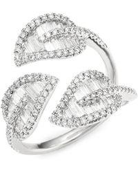 Anita Ko - 18k Gold & Diamond Tri-leaf Ring - Lyst